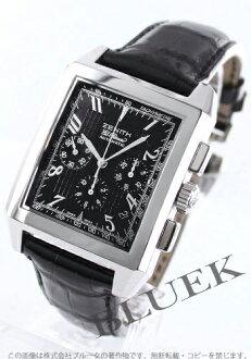 Zenith Grand port Royale El Primero chronograph leather black mens 03.0550.400/21.C492