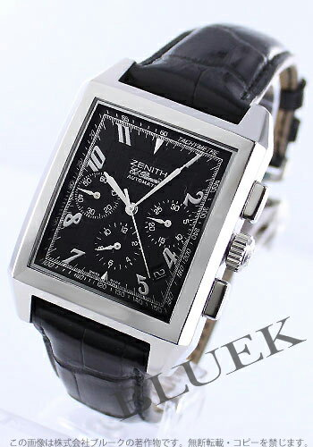 Zenith Grand port Royale El Primero chronograph leather black mens 03.0550.400/22.C503