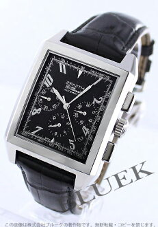 Zenith Grand port Royale El Primero chronograph leather black mens 03.0550.400/22.C503