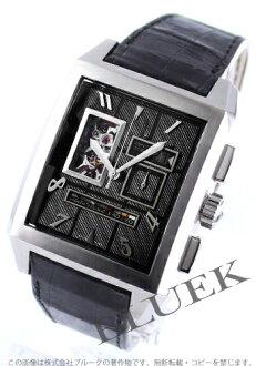 Zenith mega port Royale open Grande date with crocodile leather black mens 03.0560.4039/21.C647