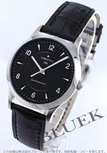 Zenith class elite automatic leather black mens 03112567922C490