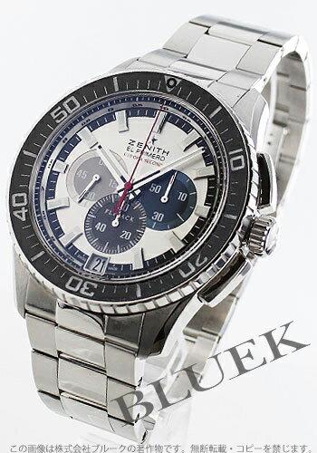 Zenith El Primero Flyback 1 / 10 chronograph silver mens 03.2062.4057/69.M2060