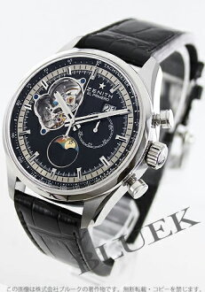 Zenith El Primero Chronomaster open Moon alligator leather black mens 03.2160.4047/21.C714