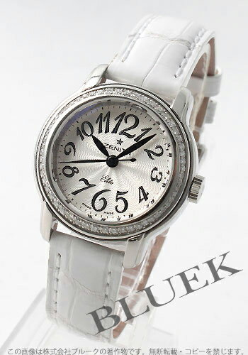 Zenith Kurono master baby star elite diamond bezel leather white / silver Lady's 16.1220.67/31.C581
