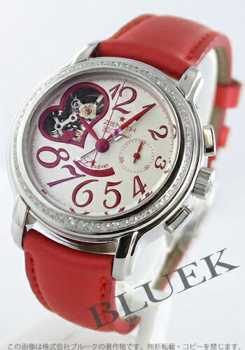 Zenith Chronomaster star open heart diabesel サテンレザー red / silver ladies 16.1230.4021/01.C538