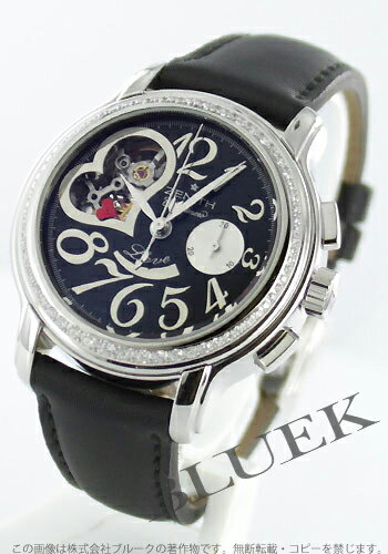 Zenith Kurono master star open heart diamond bezel satin leather black Lady's 16.1230.4021/23.C676