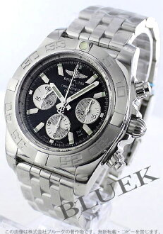 44 Brightman ring wind rider Kurono mat chronometer chronograph black & silver men A012B67PA