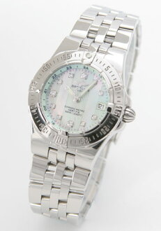 Breitling Wind Rider star liner 11 P diamond green shell Womens A710L14PA