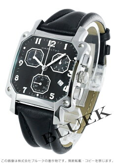 Hamilton Lloyd chronograph leather black mens H19412733
