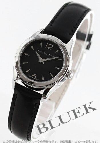 Hamilton jazz master enamel leather black Lady's mini-H32261735