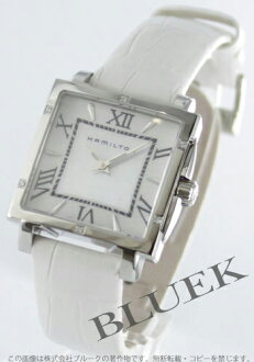Hamilton jazzmaster square diamond leather white / white shell Womens H32291914