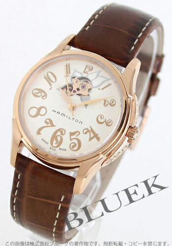 Hamilton jazzmaster automatic Leather Brown /PGP white Womens H32345983