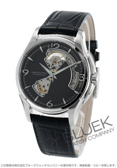 Hamilton jazzmaster viewmatic open heart automatic black mens H32565735