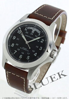 Hamilton Khaki King automatic leather brown / black men's H64455533