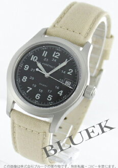 Hamilton Khaki field canvas leather beige / black men's H68481933