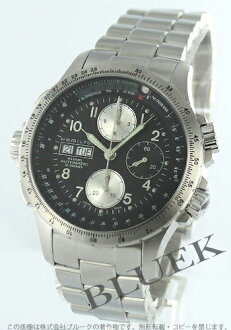 Hamilton Khaki X wind automatic chronograph black & silver men's H77616133