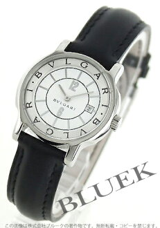 BVLGARI solo tempo leather black / white & silver Lady's ST29WSLD