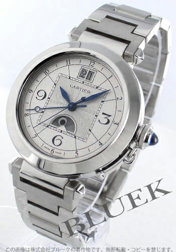 Cartier pasha XL automatic knight & D silver men W31093M7