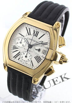 W62021Y3 with Cartier roadster XL YG pure gold automatic canvas leather black / silver men substitute belt