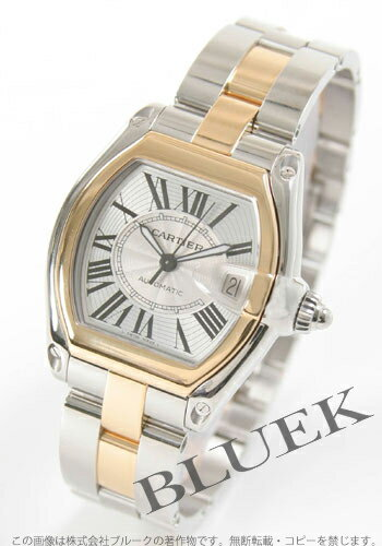 W62031Y4 with Cartier roadster LM automatic YG combination silver men substitute belt