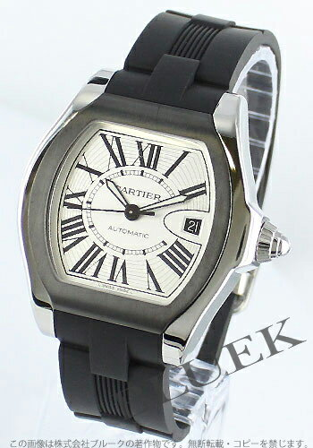 Cartier Roadster LM automatic rubber Black / Silver mens W6206018