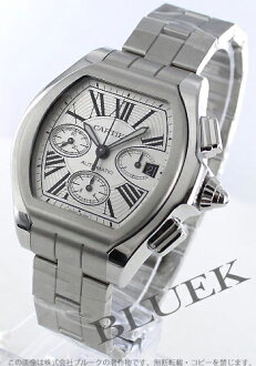 Cartier Roadster XL automatic chronograph rubber silver Roman men's W6206019