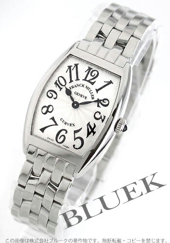Franck Muller トノーカーベックス Silver Womens black needle 1752 QZ