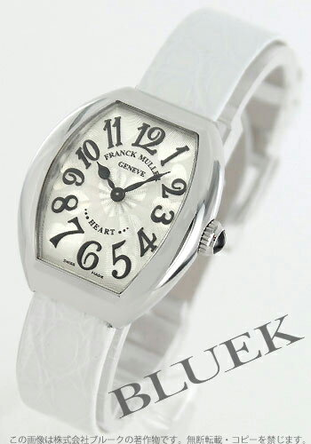 Franck Muller heart to heart enamel leather white / silver ladies 5002 S QZ HEART