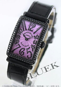 902 Frank Muller black magic WG pure gold black diamond mon doc local people leather black / purple Lady's QZ D