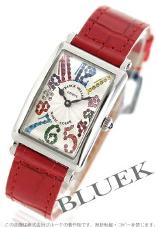 902 Frank Muller Long Island magic color black co-leather red / silver Lady's QZ MAG COL