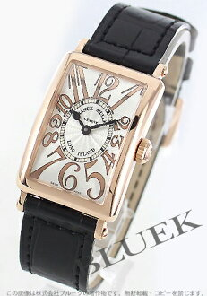 Franck Muller Long Island relief PG pure gold crocodile leather Black / Silver ladies 902 QZ REL