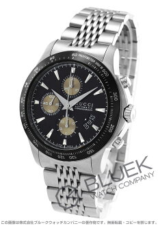 Gucci YA126 G thymeless automatic chronograph tachymeter black & brown men YA126214