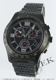 Xmas sale ★ gucci YA126 G thymeless chronograph tachymeter oar black men YA126217