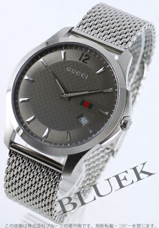 Rakuten Japan sale ★ Gucci YA126 G timeless anthra site gray mens YA126301