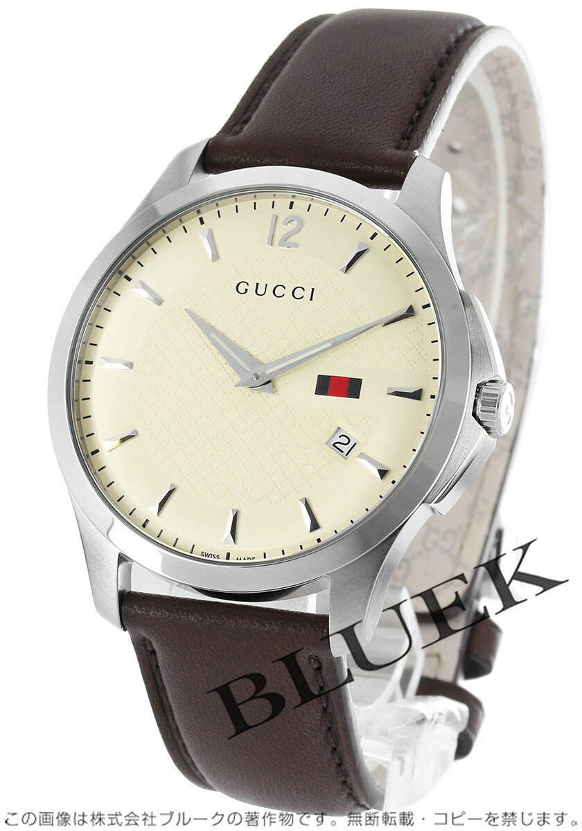 Rakuten Japan sale ★ Gucci YA126 G timeless Leather Brown / ivory men's YA126303