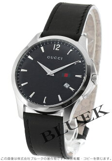 Gucci YA126 G thymeless leather black men YA126304