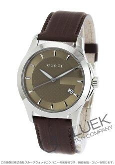 Gucci YA126 G thymeless leather brown men YA126403