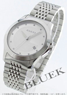 Gucci YA126 G thymeless diamond index silver men YA126404