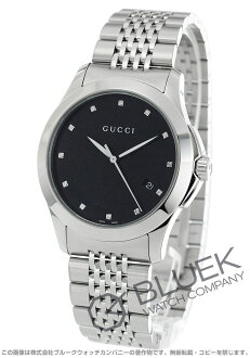 Xmas sale ★ gucci YA126 G thymeless diamond index black men YA126405