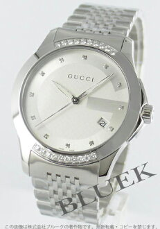 Gucci YA126 G timeless diamond silver men's YA126407