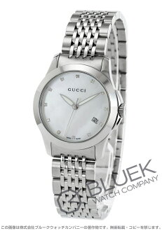 Gucci YA126 G thymeless diamond index white shell Lady's YA126504