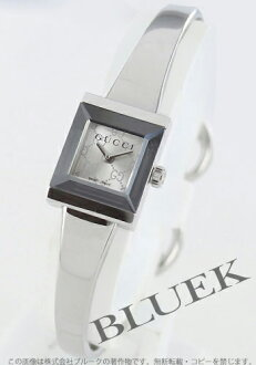 Gucci YA128 G frame square silver ladies YA128511
