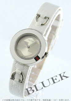 Gucci YA129 you play leather white / silver Lady's YA129509