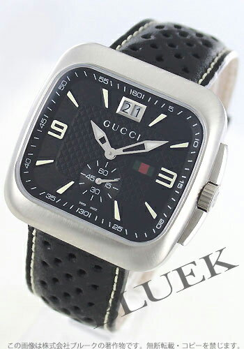 Gucci YA131 Gucci Coupé big date small seconds leather black mens YA131302