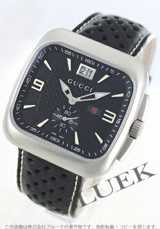 Gucci YA131 Gucci Coupé big date small seconds leather black mens YA131302