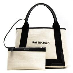 <strong>バレンシアガ</strong> トートバッグ バッグ レディース ネイビーカバス S ナチュラル&ブラック 339933 AQ38N 1081 BALENCIAGA