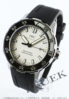 IWC aquatimer automatic 2000 m waterproof diver rubber black / white men's IW356806