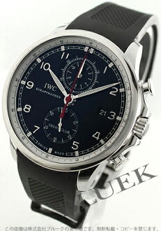 IWC Portuguese Yacht Club automatic chronograph rubber black mens IW390210