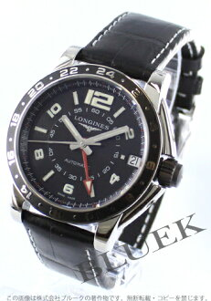 Jin Ron admiral automatic GMT alligator leather black men L3.668.4.56.0