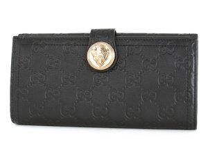 グッチグッチシマクレスト長財布ブラック190350